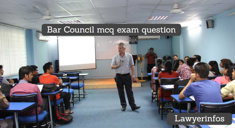 bar council mcq exam question