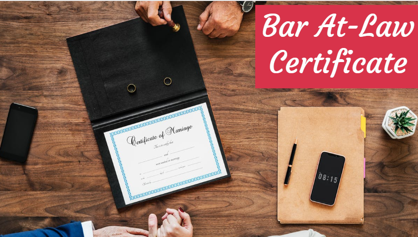 Bar At-Law Certificate