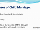 Child marriage Causes